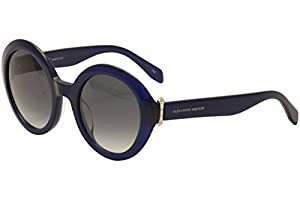 Alexander McQueen - AM0002S, Round, acetate, women, BLUE/GREY SHADED(003 A), 51/24/140