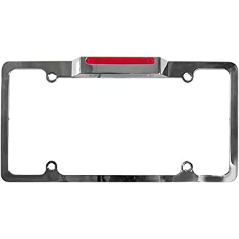Amazon.com: Car License Plate Frame Black with White LED: Automotive