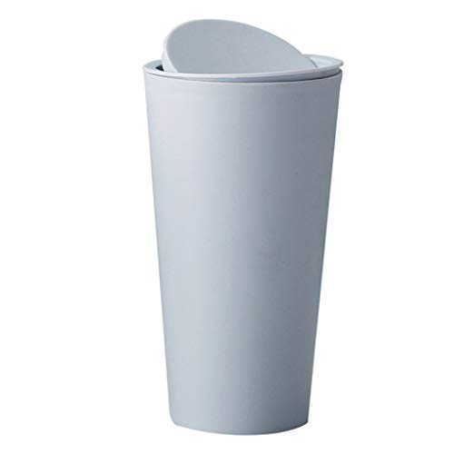 Mini Waste Can Long Cylinder Plastic Trash Bin Small Waste T