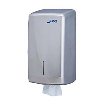 Jofel AH75000 Futura Dispensador de Papel Higiénico, Zig-Zag, Inox Satinado: Amazon.es: Industria, empresas y ciencia