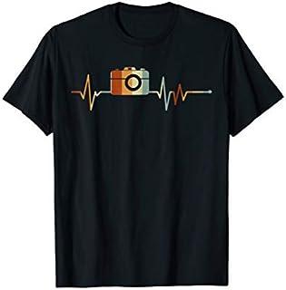 Vintage Camera Photography Heartbeat-Photograper shirt T-shirt | Size S - 5XL