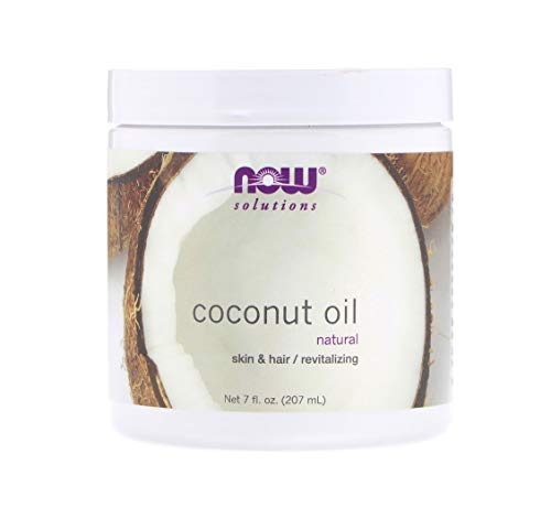 NOW Solutions, Coconut Oil, Naturally Revitializing for Skin and Hair, -