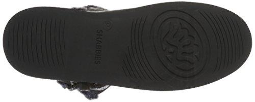 Donne Skechers Fitness Shabbies Fibbia Stivali Scorrimento Della Cinghia Breve Barca 17 Centimetri Merino Rivestimento Lammy Algebra Grigio (grigio)
