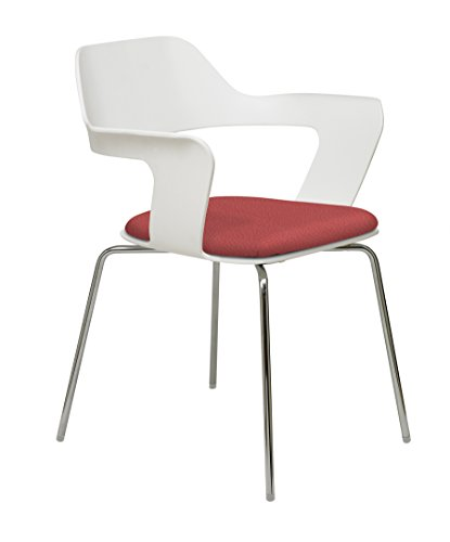 Julep Stack Chair with Flex Poly Shell, Lipstick ()