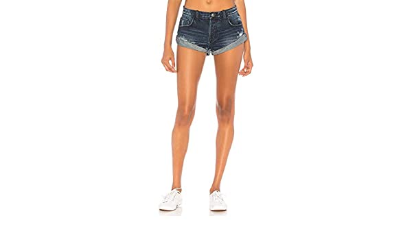 2ff508f42 Amazon.com: One Teaspoon Lone Star Bandits - Relaxed Fit Cutoff Distressed  Jean Shorts: Clothing