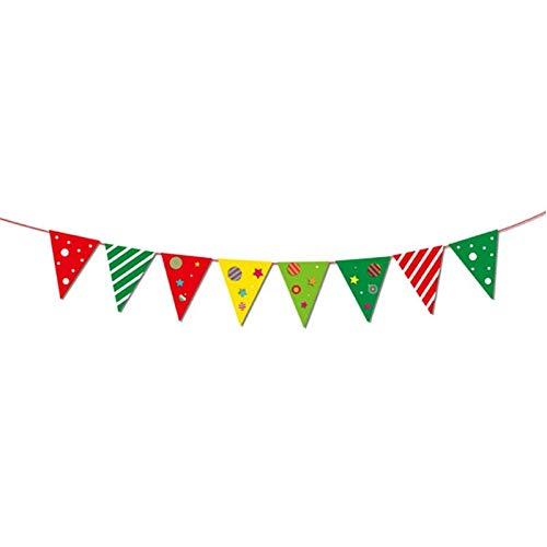Viet-GT Pendant & Drop Ornaments - Christmas Decoration Banner Flag New Year Party Decoration Santa Snowman Parachute Flags Garlands Christmas Decor 1 PCs