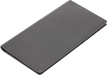 ROYCE Men's RFID Blocking Checkbook Holder Secretary Wallet, Black, One Size