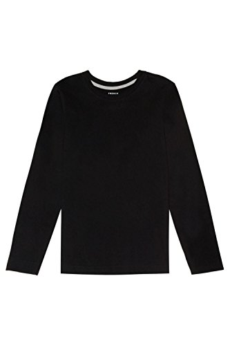 Black Kids T-shirt - French Toast Boys' Little Long Sleeve Crewneck Tee, Black, 6