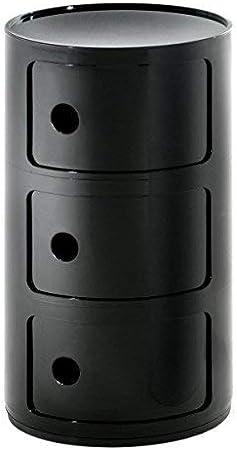 4967//09 Kartell COMPONIBILE Table de chevet noir