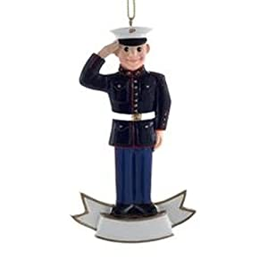 US Marine Corps Soldier Personalized Ornament
