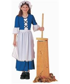 Colonial Girl Costume, Child's Large