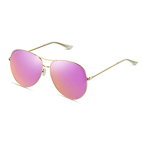 VAPUA Women Sunglasses Polarized Ladies Eyewear Lightweight Fashion Sun Glasses Metal Frame