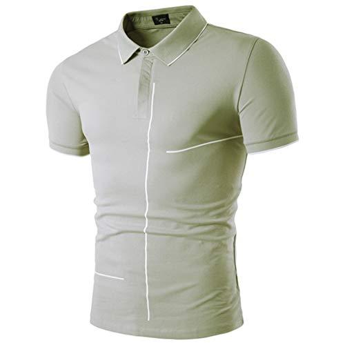 Giulot Men's Classic Fit Dress Shirt Polo Golf Shirt Big and Tall Advantage Performance Regular-fit Jersey Tee Gray ()
