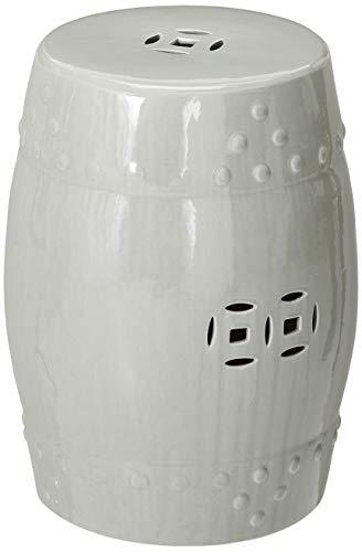 Privilege 22102 Ceramic Garden Stool Furniture Replacement Parts Grey