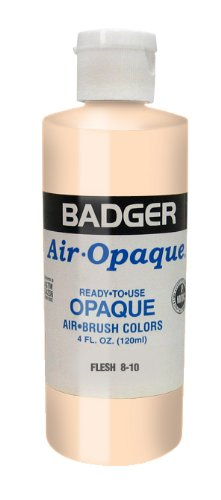 Badger Air-Brush Company 8-10 Air-Opaque Airbrush Ready Water Based Acrylic Paint, Flesh , (Best Badger Air-brush Acrylic Paints)