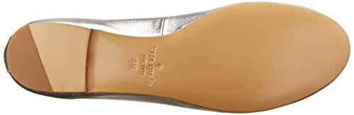 Kate Spade New York Womens Willa Ballet Flat Silver/Metallic Nappa LQ0sUgh1Y