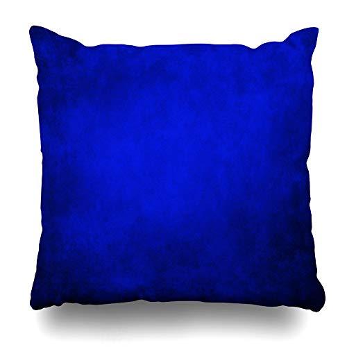 Ahawoso Throw Pillow Cover Blue Purple Vibrant Royal Black Border Cool Abstract Vintage Paint Bright Deep Antique Blur Design Decorative Pillow Case 16x16 Inches Square Home Decor Pillowcase
