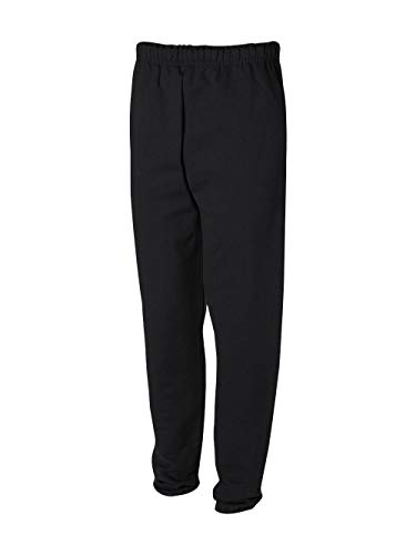 Jerzees Men's Super Sweatpants with Pocket (Black/Large)