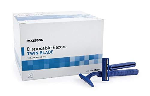 McKesson Twin Blade Razor Disposable - Box of 50 - Model 16-rz50