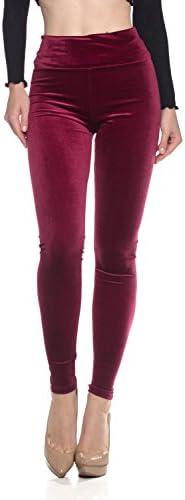 Cemi Ceri Womens J2 Love Velvet High Waist Leggings