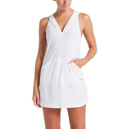 1d88b51cabc93 Nike Swim Women's Sleeveless Hooded Cover Up White at Amazon Women's ...