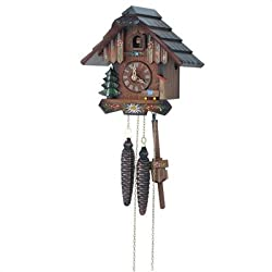Small Painted Flower Cuckoo Clock