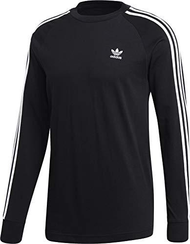 Nero Uomo T stripes shirt 3 Maglietta Adidas Longsleeve pw0xgY6f