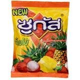Sugus Jumbo Chewy Candy Lychee and Pineapple Folvor Net Wt. 94.5g.