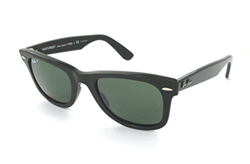 Ray Ban RB2140 901/58 54 Black Polarized Wayfarer Sunglasses Bundle-2 - 54 Rb2140 Wayfarer 901