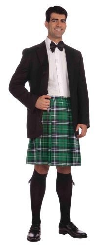 Own Made Halloween Costumes - Forum St. Patrick's Day Kilt Costume, Green Plaid, One Size