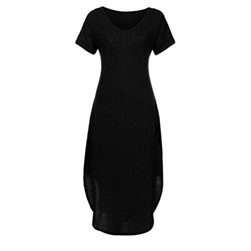 Kimodo Femme Été Pur Poche Robes Longues Au Large Robe Sexy Épaule Noire