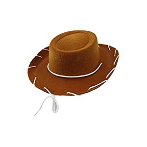 Child Western Sheriff Costume Hat – 1950's Style Kids Ranch Hat – Boys & Girls Cowgirl or Cowboy Hats, Brown, One Size