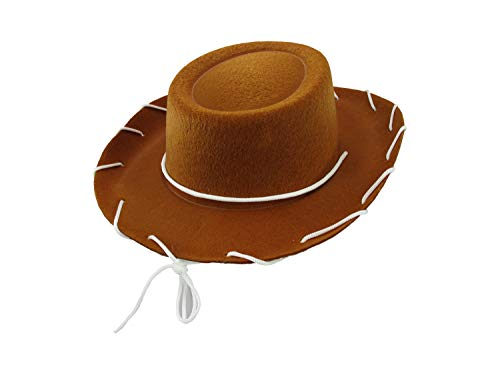 Child Western 1950's Style Kids Cowboy Ranch Hat, Brown, One Size]()
