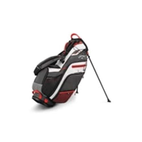 Callaway Golf Callaway Stand Bag Callaway Fusion 14 Stand Bag (Stand Bag, Titanium/White/Bold Orange), Titanium/White/Bold Orange