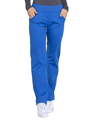 Cherokee WW Professionals WW170 Mid Rise Straight Leg Pull-On Pant Royal XS Petite ()