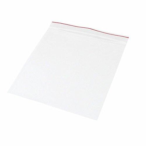 (Minigrip Red Line MGRL2P0606 Polyethylene (LDPE/LLDPE Blend) Clear Reclosable Bag, 6