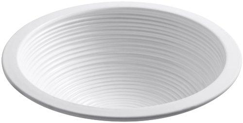 KOHLER K-14287-H6-0 Twirl Undercounter Bathroom Sink, White (Kohler Clay)