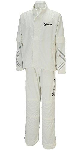 DUNLOP(ダンロップ) SRIXON レインジャケット&パンツ メンズ SMR6000 ホワイト L