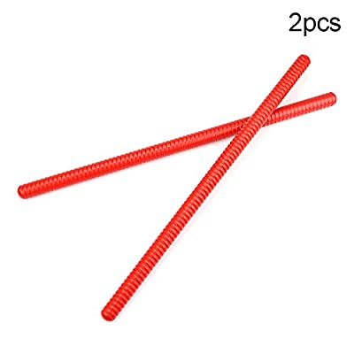 shengyuze Rhythm Stick Learning Toys 2Pcs Wooden Threaded Claves Musical Percussion Instrument Rhythm Sticks Kids Toy( 2pcs ): Toys & Games
