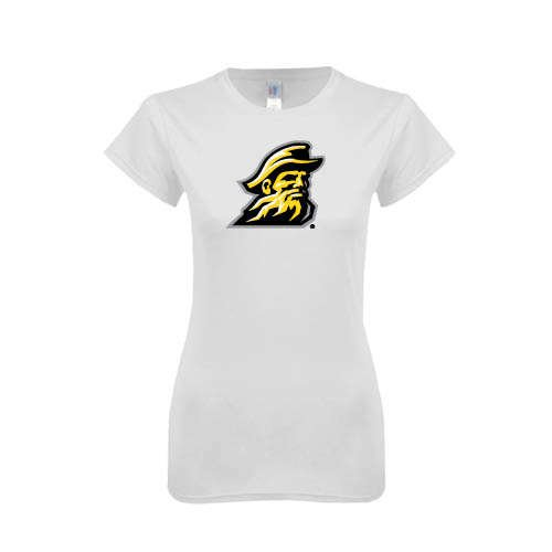 Appalachian State Next Level Ladies SoftStyle Junior Fitted White Tee 'Yosef'