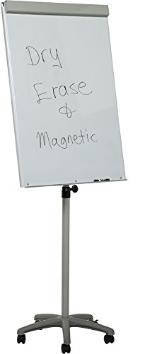 Heavy-Duty Mobile Magnetic Dry-Erase Flipchart Easel - 29'' x 42'' board by Audio-Visual Direct