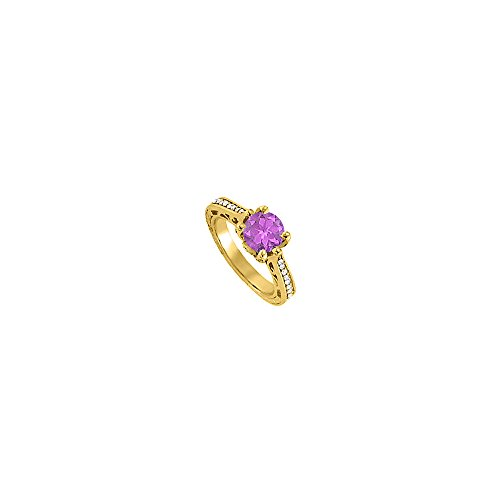 Gorgeous Jewelry Gift Amethyst and CZ Ring 1.25 TGW