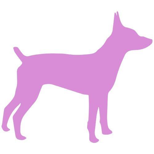 Rat Terrier Dog Decal Sticker (pink, mirrored), Decal Sticker Vinyl Car Home Truck Window -