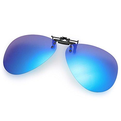 Myopia Soleil Hyun Lunettes de Driver Conduite Ultralight Mirror Clip Blue Miroir Polarized pnZq70Hn