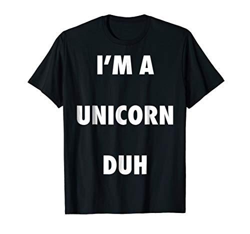 Easy Halloween Unicorn Costume Shirt for Men Women Kids ()