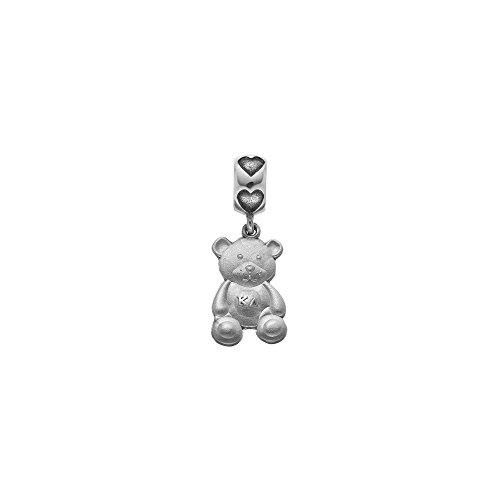 Greek Sororities SS KAPPA DELTA TEDDY BEAR CHARM ON HEART BEAD Size One Size