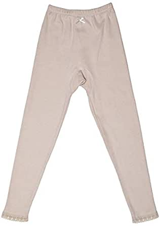 Mark-On Beige Slim Fit Leggings Pant For Girls