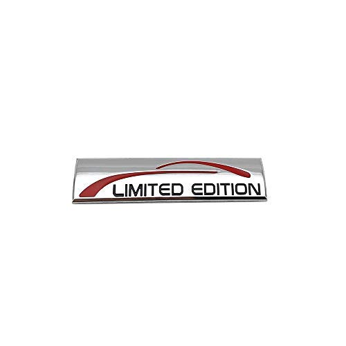 Chrome Metal Limited Edition Logo Car Emblem Premium 3D Badge Auto Rear Trunk Sticker Side Fender Decal