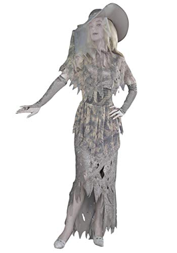 Forum Novelties Women's Ghostly Gal Costume, Gray, X-Large]()