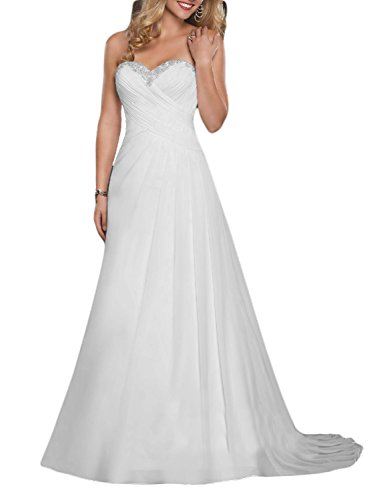See the TOP 10 Best<br>A Line Sweetheart Wedding Dresses